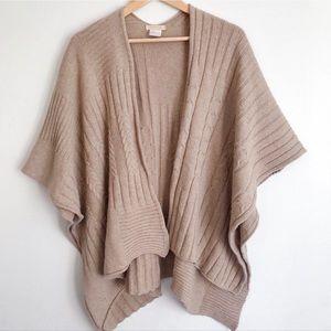 INVERNI Italy Wool Cape Hug Shrug Poncho One Size